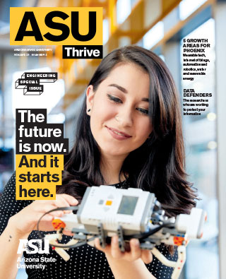 ASU Thrive magazine cover