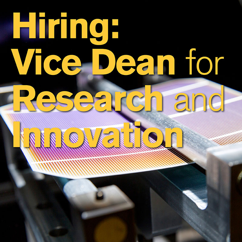 Hiring: Vice Dean for Research